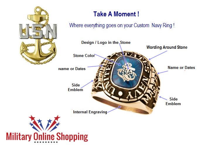 design your navy ring online