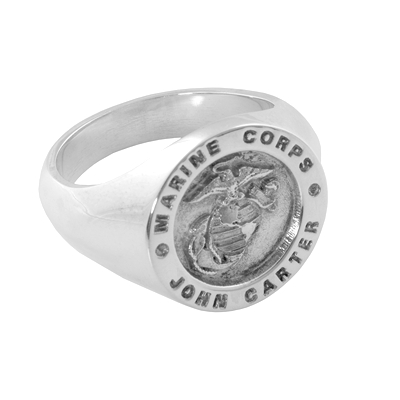 Silver Marine Signet Ring