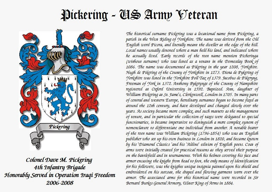 Printed Military Certificate with Coat of Arms