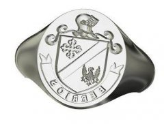 Family Seal Ring in Sterling Silver