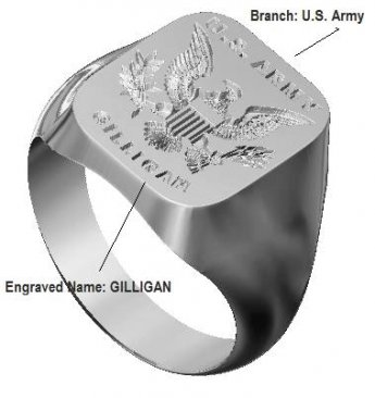 military signet ring