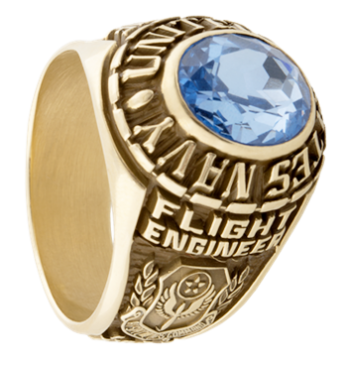 side image of a Navy Ring