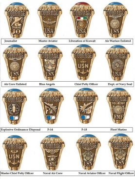 us navy rings