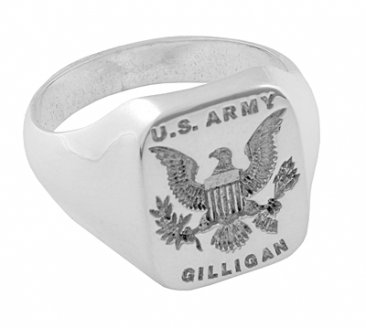 Army Signet Ring - Custom Made For Soldiers