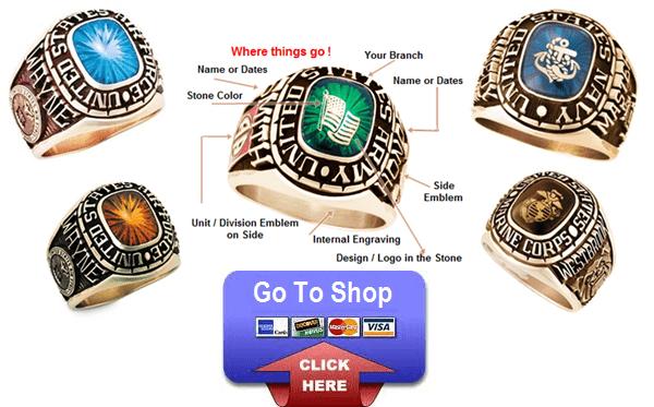 custom military rings