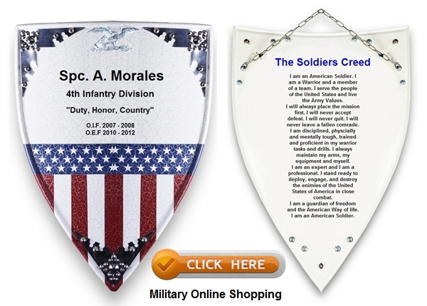 army plaques and shields