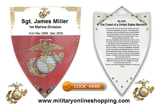 marine shield and plaque