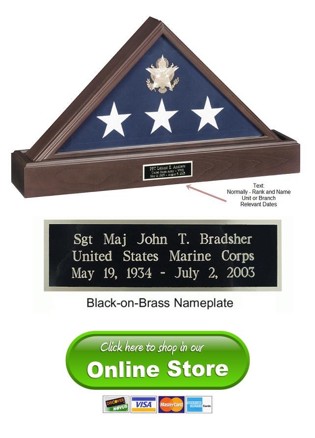 military flag cases