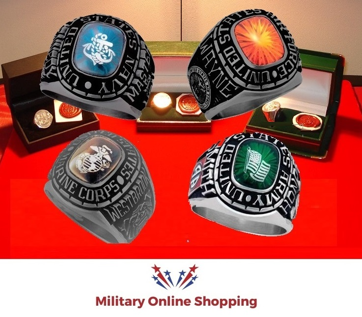 military rings for all branches of the armed forces