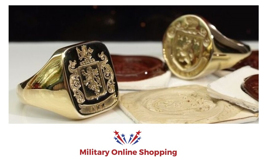 family crest rings in gold and silver